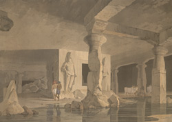 Part of the interior of the Elephanta